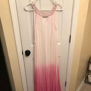 Ombre Halter Maxi Dress